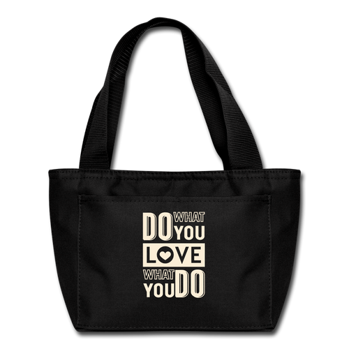 Do What-Lunch Bag - black