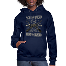 Load image into Gallery viewer, Born & Raised-Women's Hoodie - navy