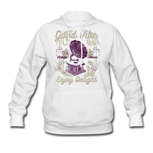 Load image into Gallery viewer, Good Vibes-Women's Hoodie - white