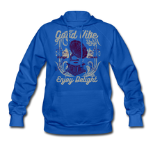 Load image into Gallery viewer, Good Vibes-Women's Hoodie - royal blue