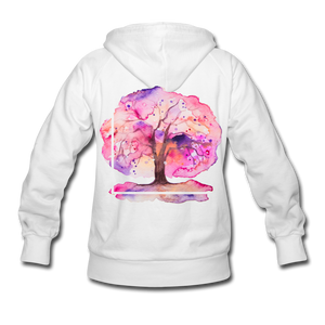 Think Out Of -Women's Hoodie - white