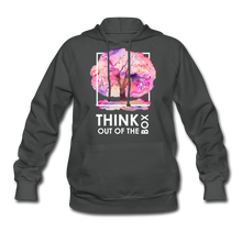 Load image into Gallery viewer, Think Out Of -Women's Hoodie - asphalt