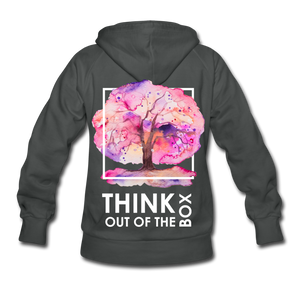 Think Out Of -Women's Hoodie - asphalt