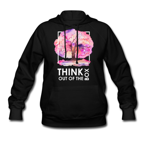 Think Out Of -Women's Hoodie - black
