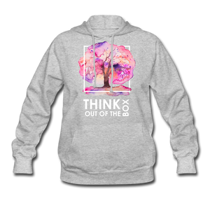 Think Out Of -Women's Hoodie - heather gray