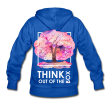 Load image into Gallery viewer, Think Out Of -Women's Hoodie - royal blue