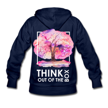 Load image into Gallery viewer, Think Out Of -Women's Hoodie - navy