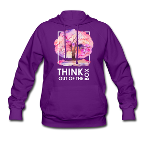 Think Out Of -Women's Hoodie - purple