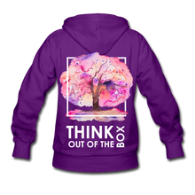 Load image into Gallery viewer, Think Out Of -Women's Hoodie - purple