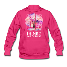 Load image into Gallery viewer, Think Out Of -Women's Hoodie - fuchsia