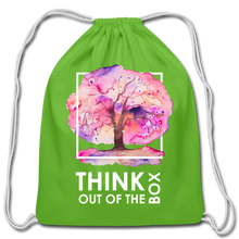 Load image into Gallery viewer, Think Outside Of-Cotton Drawstring Bag - clover