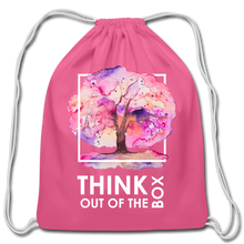 Load image into Gallery viewer, Think Outside Of-Cotton Drawstring Bag - pink