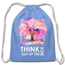 Load image into Gallery viewer, Think Outside Of-Cotton Drawstring Bag - carolina blue
