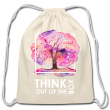 Load image into Gallery viewer, Think Outside Of-Cotton Drawstring Bag - natural