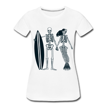 Load image into Gallery viewer, Mermaid Skeletons-Women's Premium T-Shirt - white