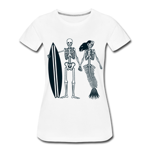 Mermaid Skeletons-Women's Premium T-Shirt - white