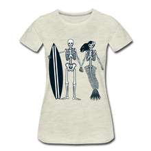 Load image into Gallery viewer, Mermaid Skeletons-Women's Premium T-Shirt - heather oatmeal