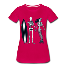 Load image into Gallery viewer, Mermaid Skeletons-Women's Premium T-Shirt - dark pink