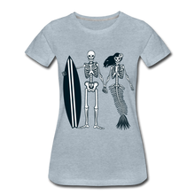 Load image into Gallery viewer, Mermaid Skeletons-Women's Premium T-Shirt - heather ice blue