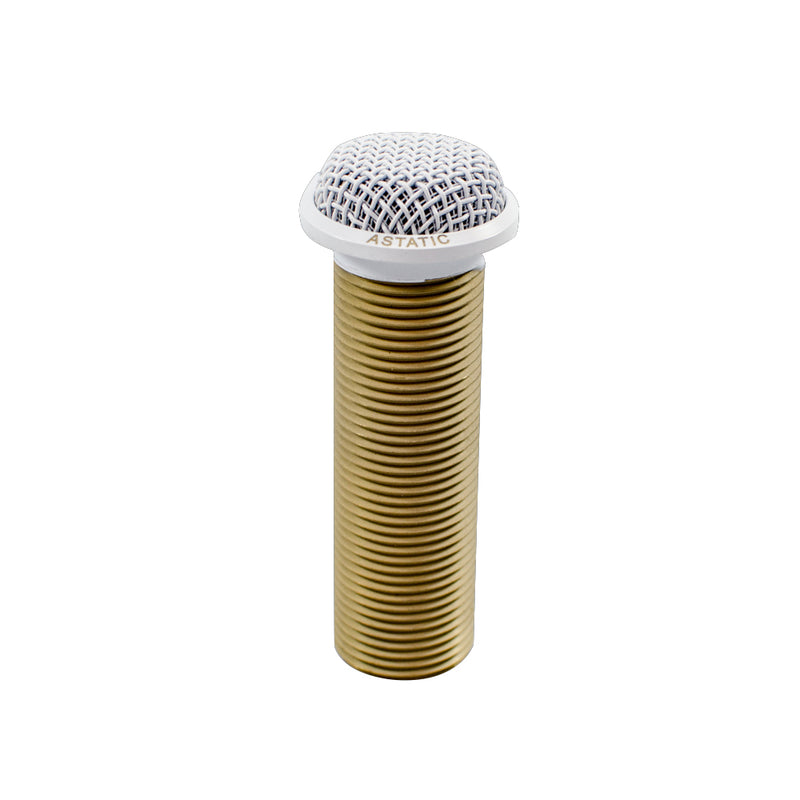 CAD Astatic RF Resistant Mini-Boundary Button Condenser Microphone ~ White