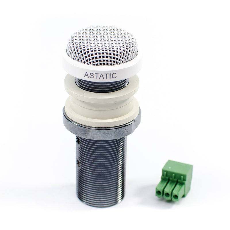 CAD Astatic Omnidirectional Button Microphone ~ White