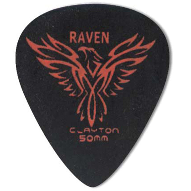Clayton BLACK RAVEN PICK STANDARD .50MM (12 Pack)