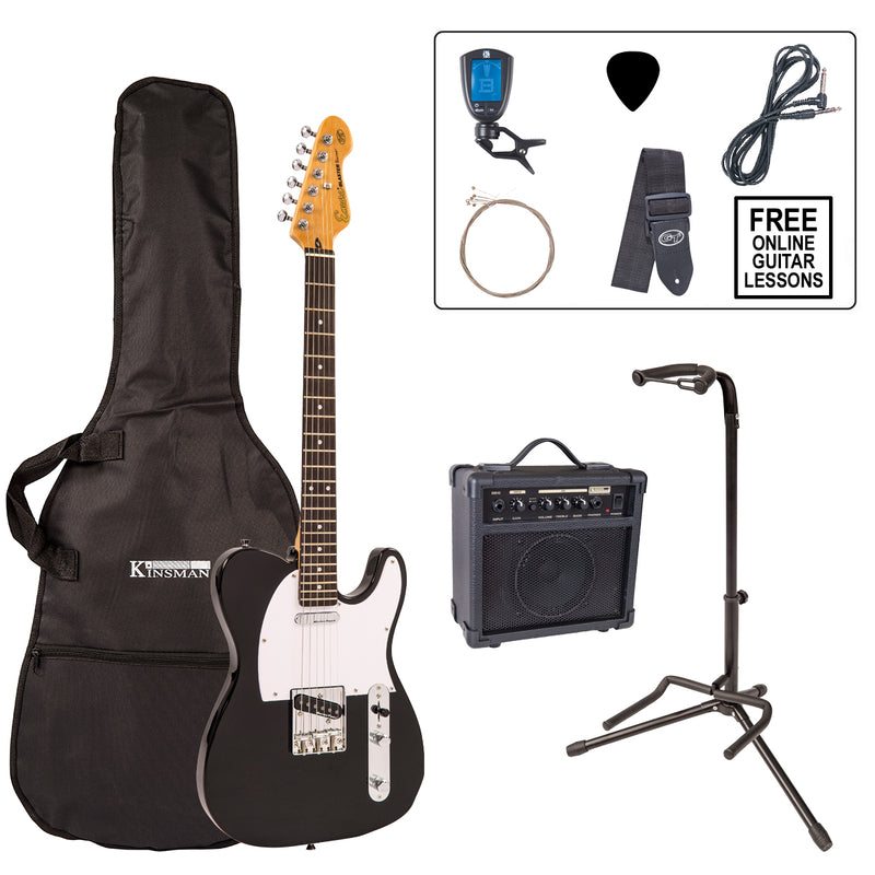 Encore E2 Electric Guitar Pack ~ Gloss Black