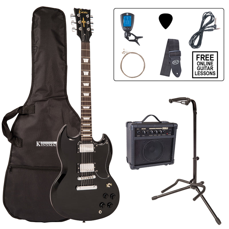 Encore E69 Electric Guitar Pack ~ Gloss Black