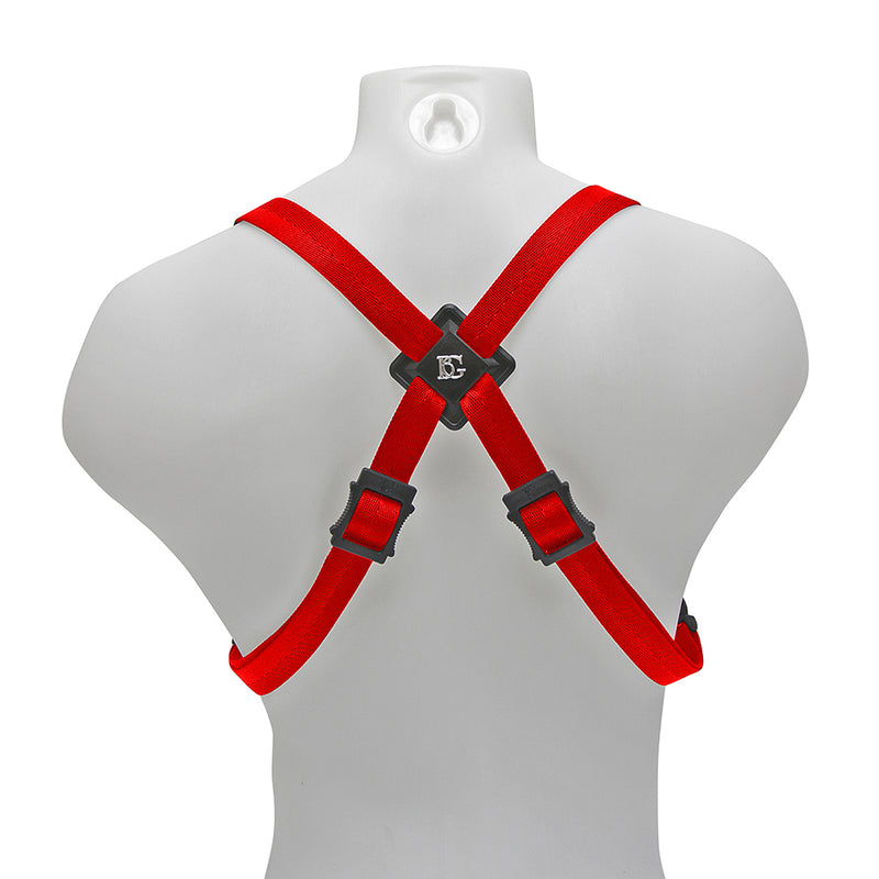 BG Alto, Tenor & Baritone Sax Womens Harness ~ Red ~ Metal Hook