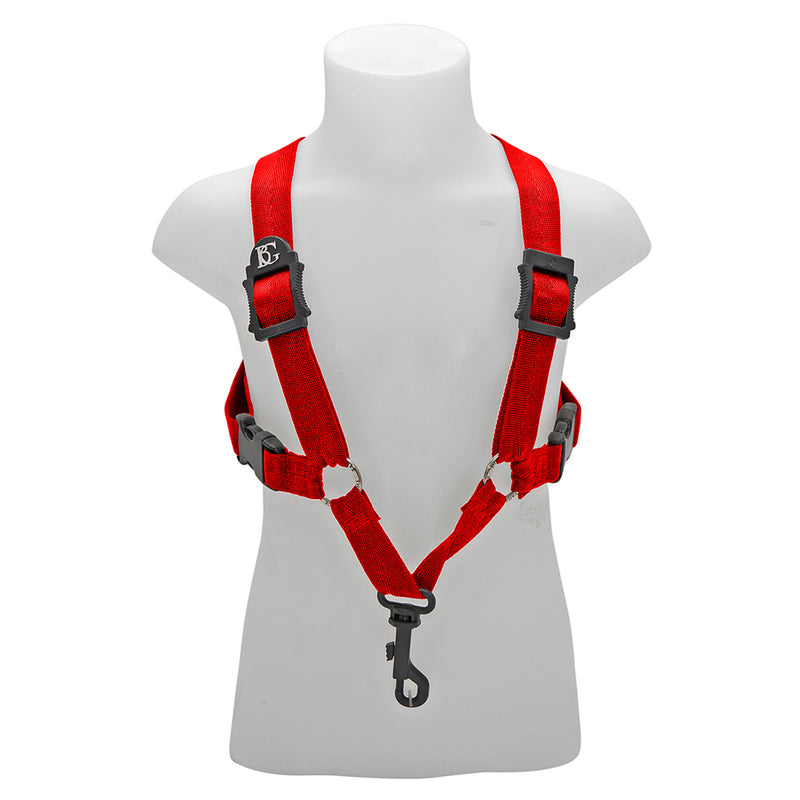 BG Alto & Tenor Sax Small Comfort Harness ~ Red ~ Snap Hook
