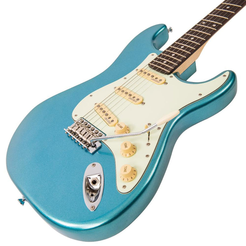 Vintage V6 ReIssued Electric Guitar ~ Candy Apple Blue