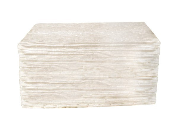 82000 15″ x 18″ OIL ONLY HEAVY-WEIGHT ABSORBENT PAD – White, 100/bag