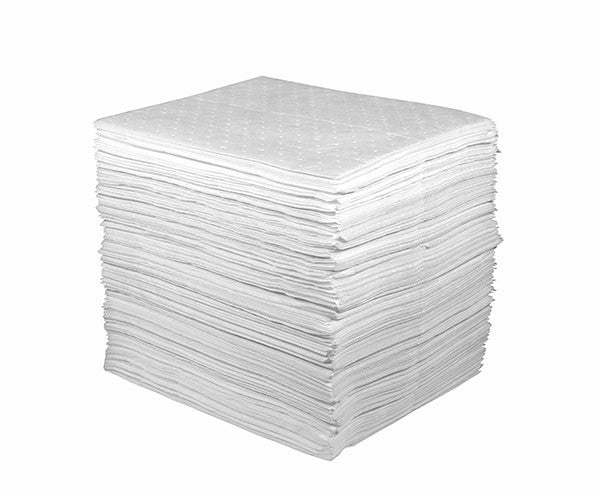 82002 15″ x 18″ OIL ONLY LIGHT-WEIGHT ABSORBENT PAD – White, 200/bag
