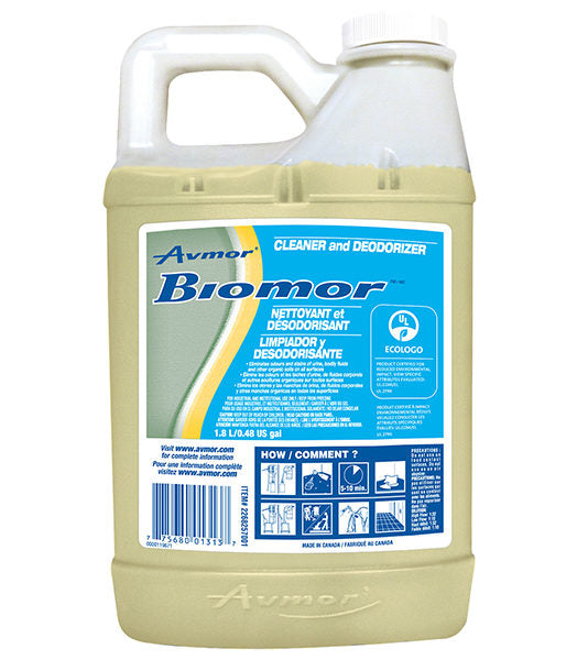 AVMOR BIOMOR CLEANER & DEODORIZER – 1,8L, (4/case)