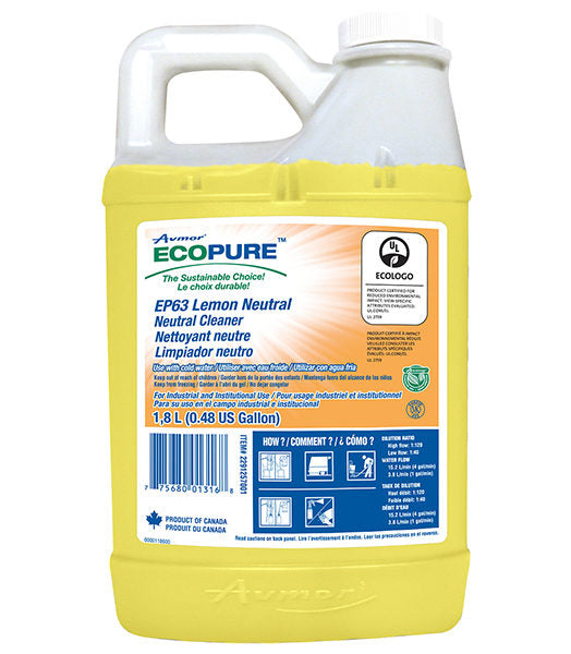 AVMOR ECOPURE EP63 NEUTRAL FLOOR CLEANER – 1,8L, (4/case)