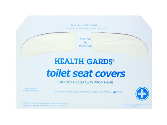 HG-1000 TOILET SEAT COVERS, DISPOSABLE – 250/pkg, 1000/case