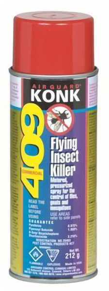KONK BVT 409D FLYING INSECT KILLER AEROSOL .975% PYR – 212 g (12/case)