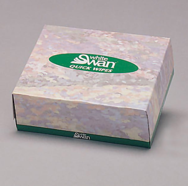 08500 WHITE SWAN 2 ply QUICK WIPES – 80sheets/box, 135 boxes/case