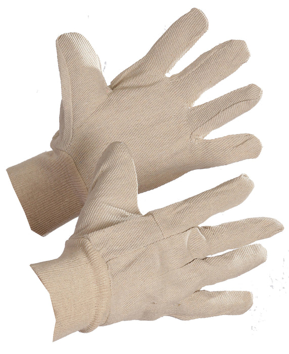 8 oz COTTON GLOVE w/KNIT WRIST, 12pairs/package (300pr/case)
