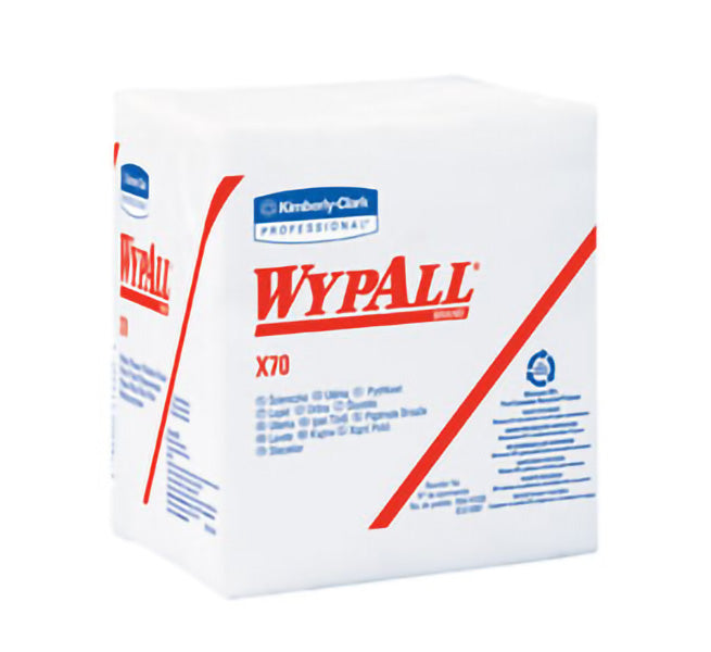41200 WYPALL X70 1/4 FOLD WHITE WIPER TOWELS – 76/pkg, 12pkg/case