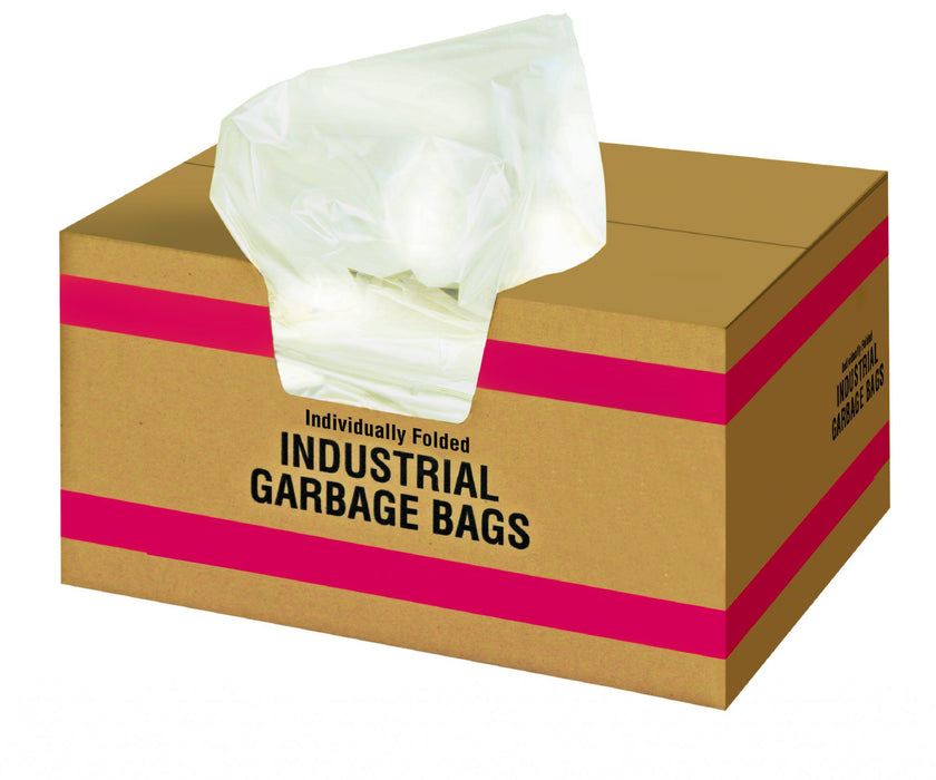 20027-5 20 x 22 WHITE GARBAGE BAGS – 500/case