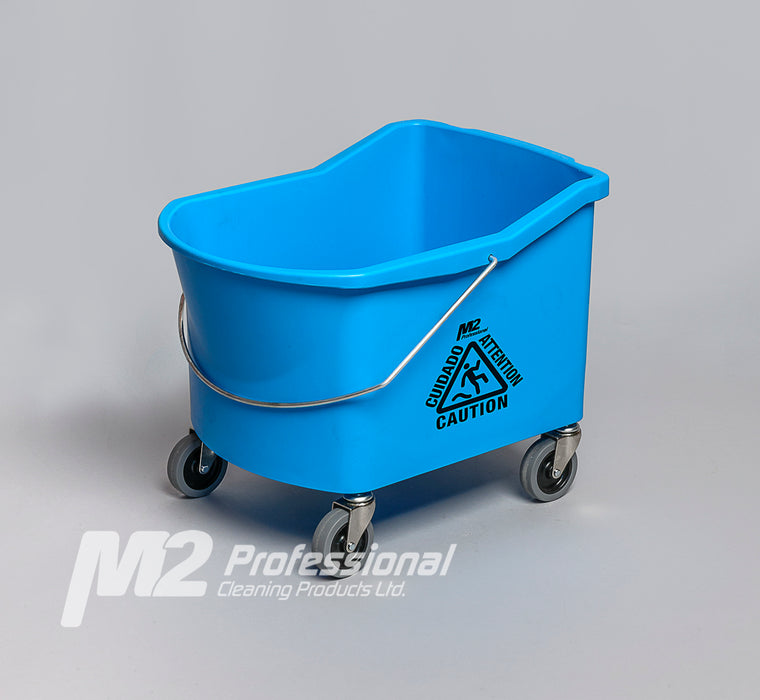 GRIZZLY 32qt BUCKET (ONLY) w/ CASTERS – Blue