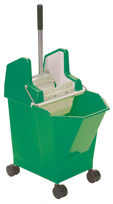 LADY COMBO WRINGER, BUCKET w/CASTERS, MOP & HANDLE COMBO- Green