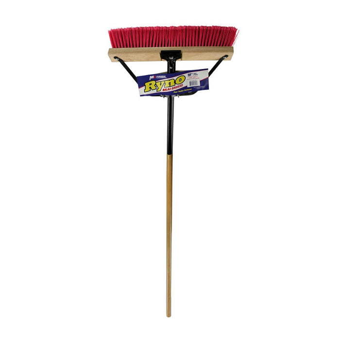 M2 24″ RYNO PUSH BROOM – COMPLETE w/ HANDLE & BRACE (4/package)