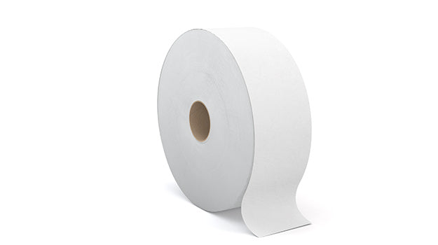 2-T320A1 PERFORM 2 PLY WHITE JUMBO TOILET TISSUE, 1250'/roll , 6 rolls/case