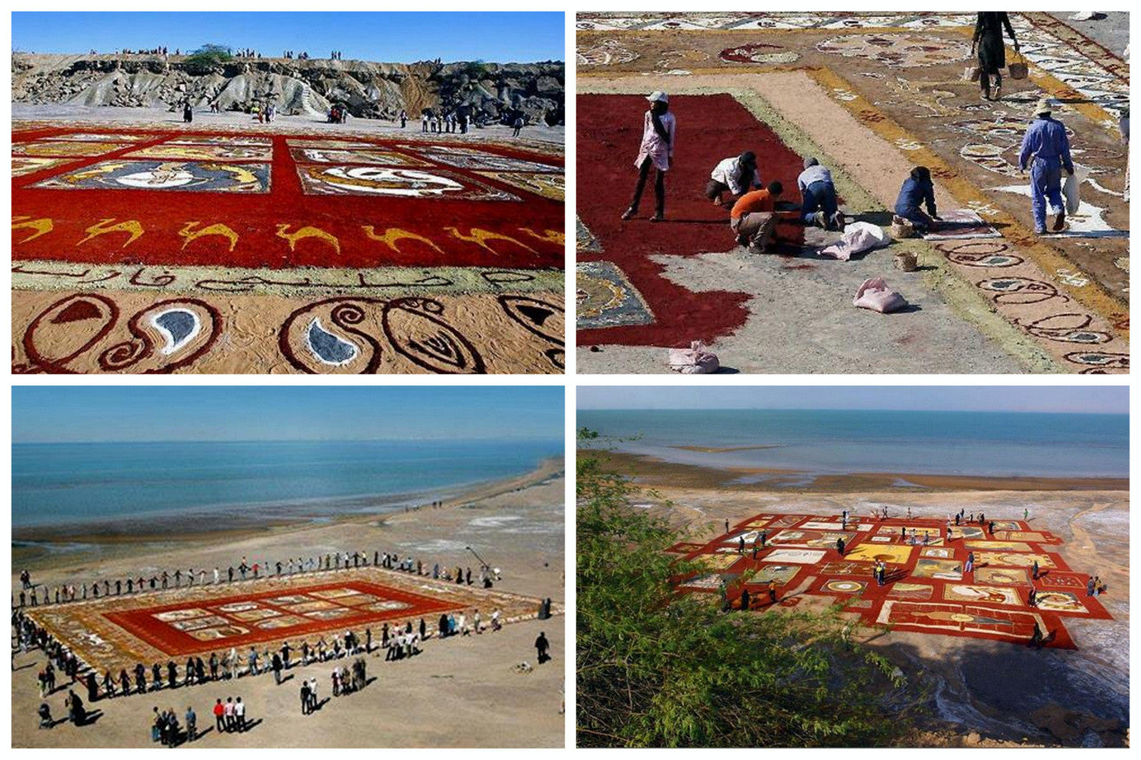 Simply Amazing - A Rug Made of Sand Three Acres Large!