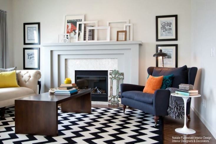 how to use bold graphic modern area rugs in your home - nw rugs