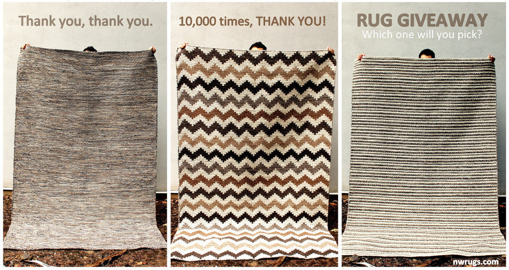 10,000 THANK YOU's RUG GIVEAWAY
