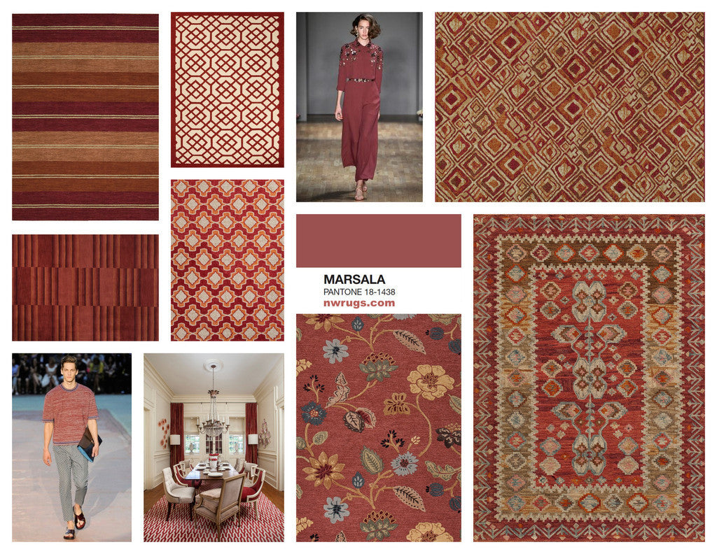 MARSALA - BRINGING PANTONE COLOR of the YEAR 2015 into YOUR HOME