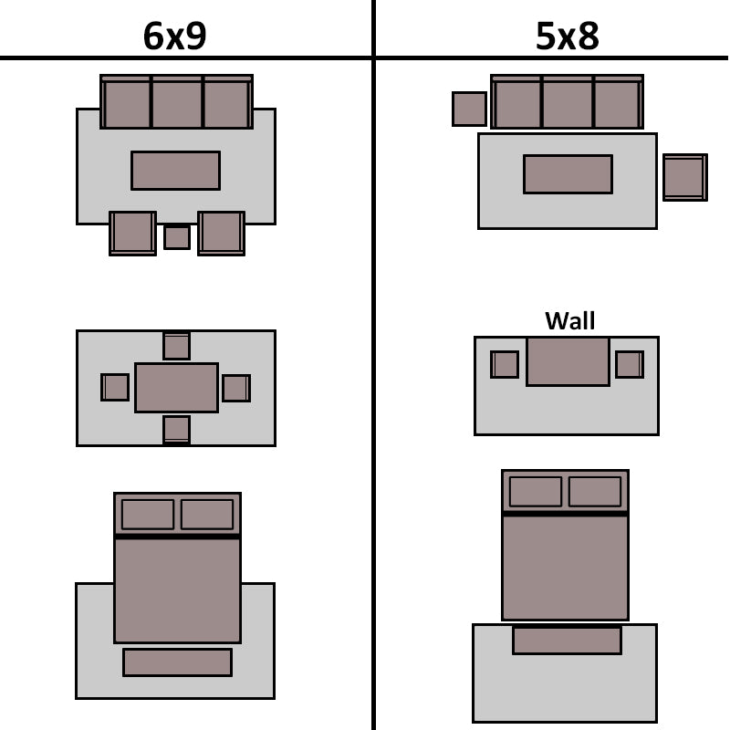Rug Sizes Size Guide Nw Rugs Furniture